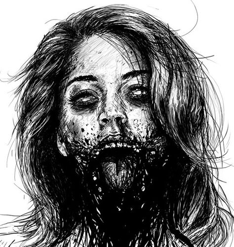 Cool drawing of a zombie