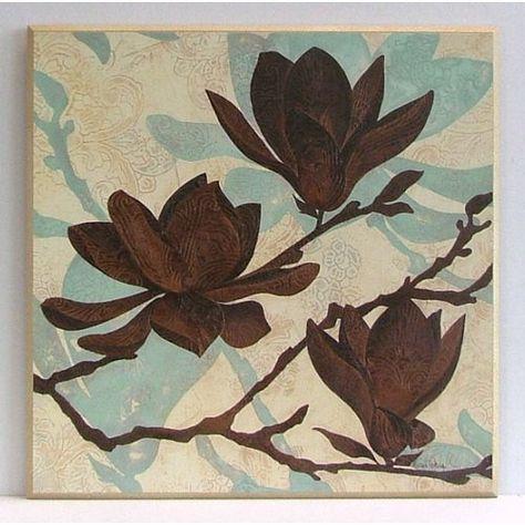 Flowers Fine Art 'Embossed Magnolia I' Graphic Art on Paper Wildon Home