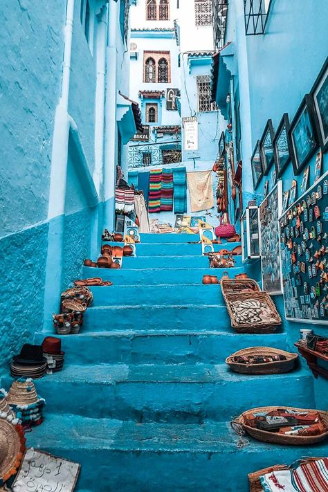 10 Amazing Places That Would Create the Perfect Morocco Itinerary. Morocco is one of the most beautiful places on earth and a place that has recently been growing in popularity. BLUE CITY IN MOROCCO! Amazing Places On Earth, Beautiful Places To Travel, Beautiful World, Instagram Inspiration, Travel Inspiration, The Places Youll Go, Places To Go, Morocco Itinerary, Morocco Travel