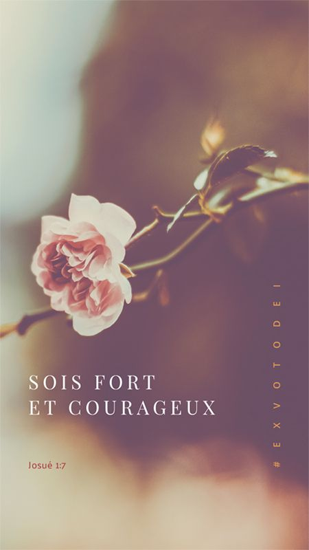 Be Strong And Courageous Fr Sois Fort Et Courageux Verset