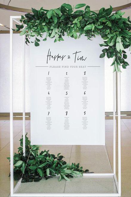 Modern RILEY Wedding Seating plan Printable long tables wedding seating plan wedding plan wedding seating banquet seating chart