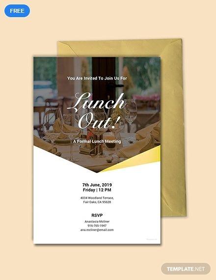 Free Formal Lunch Invitation | Lunch invitation, Invitation ...