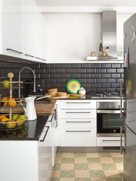 Nuevo Estilo Diseno Y Arquitectura Cocinas De Casa Cocina Azulejos Blancos Cocinas De Casas Pequenas
