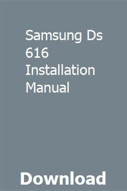 Samsung Ds 616 Installation Manual Installation Manual Cummins Engine Cummins
