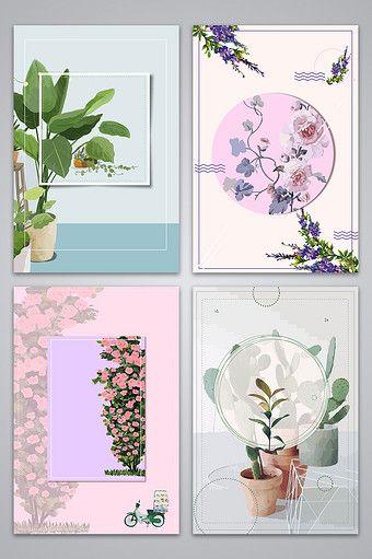 رسمت باليد الزهور الطازجة الصغيرة الأدبية خريطة الخلفية خلفيات Ai تحميل مجاني Pikbest Flower Drawing Flower Background Images Floral Painting