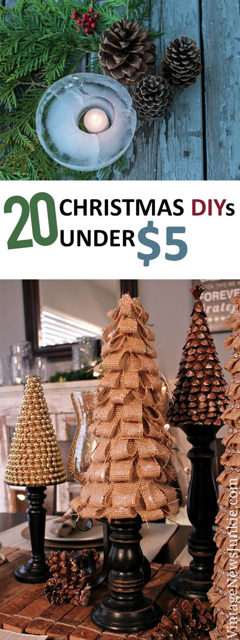 20 Christmas DIYs Under $5 - Sunlit Spaces   DIY Home Decor, Holiday, and More