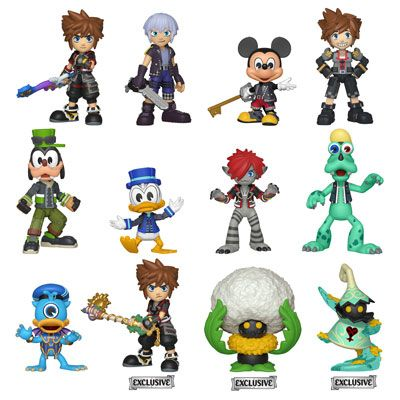Kingdom Hearts Iii Funko Mystery Minis Vinyl Figures Featuring In Game Versions Of Sora Riku Mickey Vanitas Mage Mystery Minis Vinyl Figures Kingdom Hearts