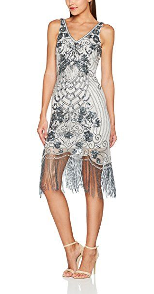 Frock and Frill Arrie Sequin Shift Dress amazon Elegante