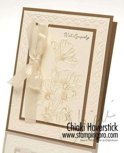 sympathy  white on white embossing