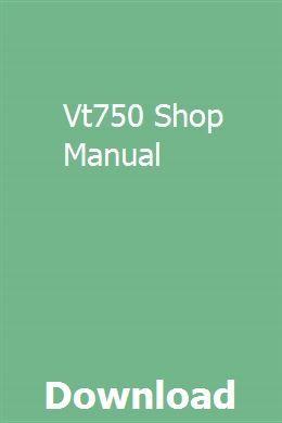 Vt750 Shop Manual Repair Manuals Manual Manual Car