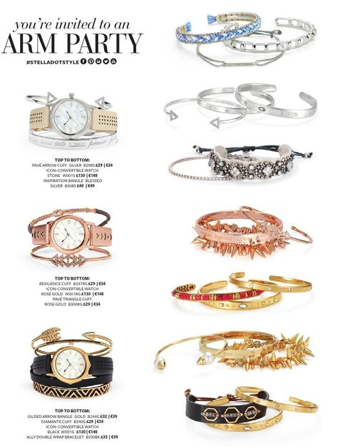 Get your #armparty started at www.stelladot.co.uk/clarewatkins