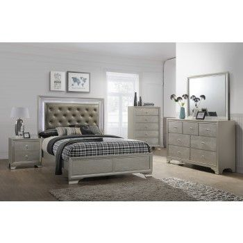 Nikola Bedroom Set Dresser Mirror Queen Bed in 2019 | Home ...