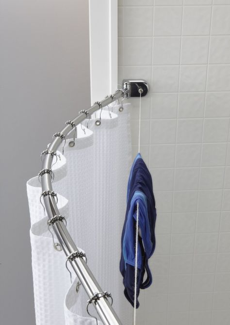 18 Space Saving Ideas For Your Bathroom Clothes Line Shower Rod