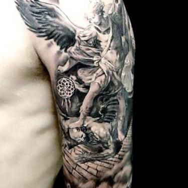 Guardian Angel Half Sleeve Tattoos With Meaning