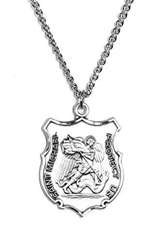 DiamondJewelryNY Sterling Silver St Christopher Pendant