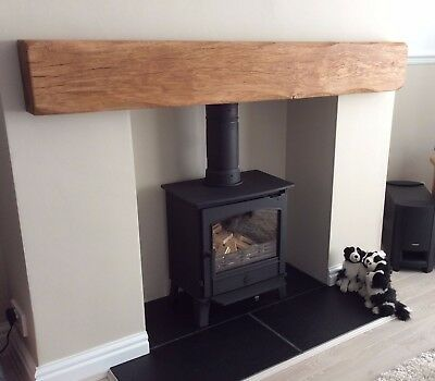 Solid Oak Beam Fireplace Mantle Lintel Floating Shelf Mantelpiece Timber Ebay Oak Beam Fireplace Fireplace Shelves Oak Fireplace