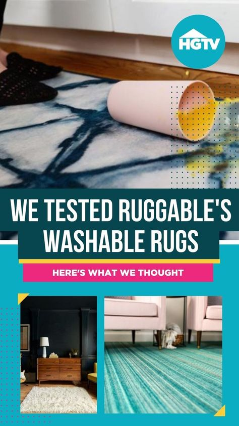 In order to find out how good Ruggable washable rugs actually are, we put our best HGTV editors on the job. 💪 Our editors put Ruggable washable rugs up to the test of stains, dirt and pet accidents. Find out how well they performed and where you can buy one for your home. 🏡