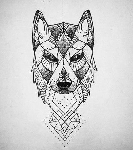 Tattoo Zeichnungen Geometrischer Wolf In 2020 Geometric Wolf Tattoo Geometric Wolf Wolf Tattoo Design