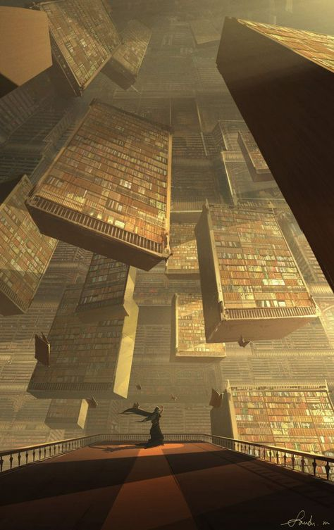 Fantasy libraries are infinitely more interesting than real world ones Fantasy Artwork, Fantasy Art Landscapes, Fantasy Concept Art, Fantasy Landscape, Landscape Art, Anime Art Fantasy, Concept Art World, Dark Fantasy Art, Landscape Architecture
