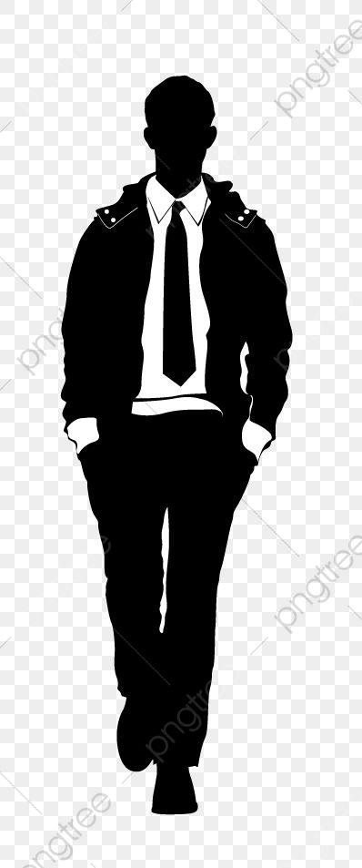 Gambar Model Lelaki Model Lelaki Siluet Lelaki Vektor Man Png Dan Vektor Untuk Muat Turun Percuma Male Models Silhouette Png Black And White Suit