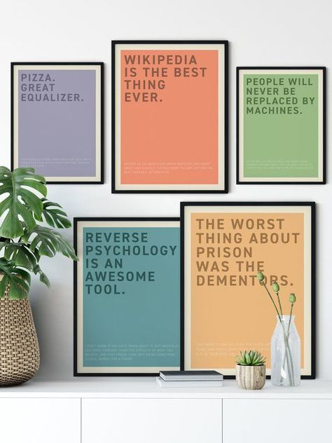 Instant Download Set Of 5 Michael Scott Quotes Poster Reverse Psychology Wikipedia Dementor Machines Pizz Quote Posters Michael Scott Quotes Michael Scott