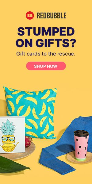 It's not too late to get a great gift. Redbubble digital gift card gives the recipient the choice of millions of designs by independent artists printed on a range of products.