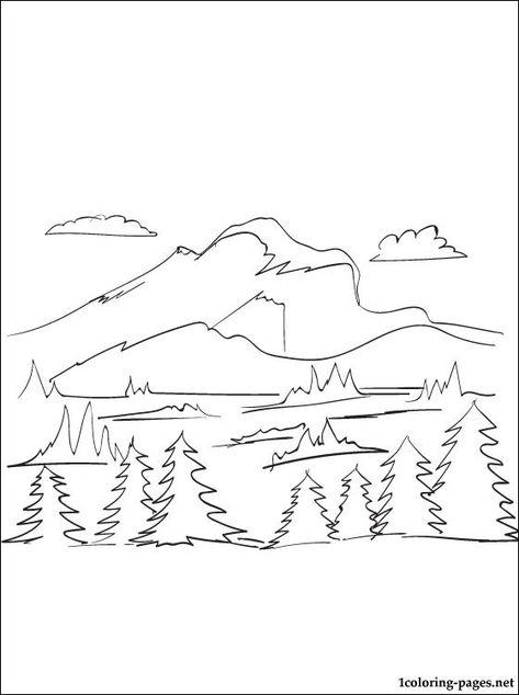 Free Landscape Coloring Pages | School crafts | Pinterest ...
