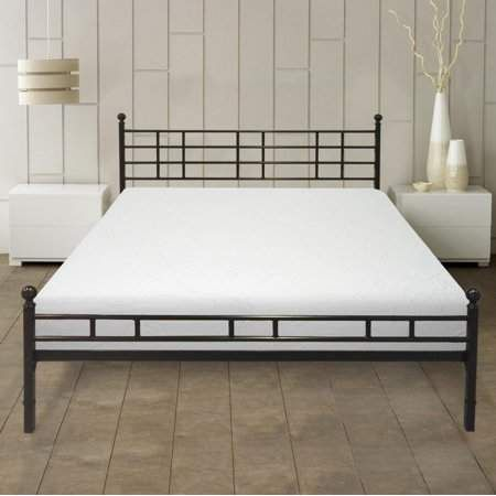 Best Price Mattress 10 Inch Air Flow Memory Foam Mattress And Easy Set Up Steel Bed Frame Set Multiple Sizes Walmart Com In 2020 Bed Frame Sets Platform Mattress 12 Inch Memory Foam Mattress