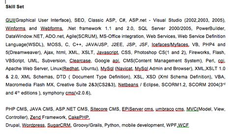 Tips on writing a front-end developer CV u2013 simonsmithio - j2ee web development resume