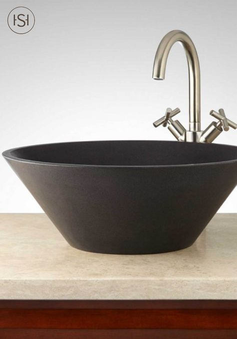 Bring Unique Style To Your Bathroom With The Loa Round Lava Stone
