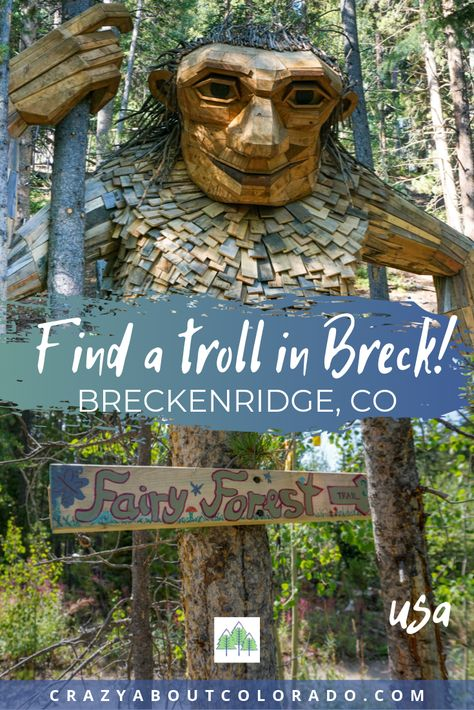 Where do you find a troll hike and fairies on the trail? In Breckenridge, CO of course! What a great way to get kids to love hiking. Hiking Trails in Breckenridge, USA Road Trip To Colorado, Colorado Hiking, Vail Colorado, Colorado Mountains, Frisco Colorado, Oh The Places You'll Go, Places To Travel, Places To Visit, Travel Destinations