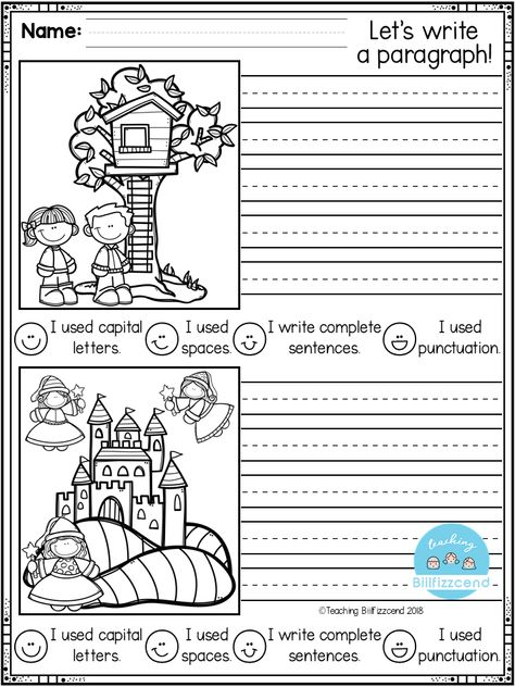 FREE, Fun, creative narrative writing prompts for your first grade, second grade, and kindergarten students to build confidence in writing. writing activities at home First Grade Writing Prompts, Narrative Writing Prompts, Kindergarten Writing Prompts, Kindergarten Freebies, Work On Writing, Paragraph Writing, Kids Writing, Teaching Writing, Personal Narrative Writing