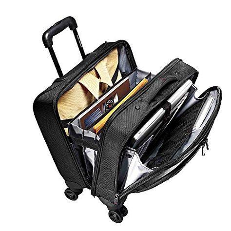 Samsonite Xenon 2 Spinner Mobile Office Business Case In Black