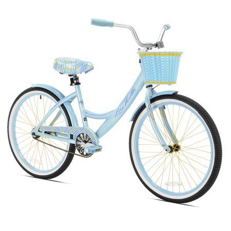 "Girl Hybrid Bike Kent 24/"" White Purple Step Through Cruiser Bicycle Shimano New"