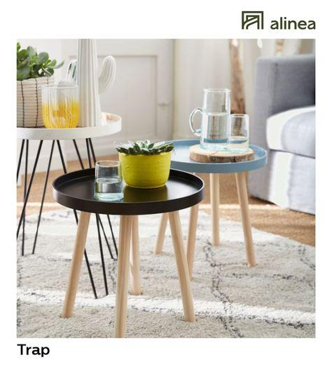 Alinea Trap Bout De Canape Style Scandinave Gris Bleute Meubles