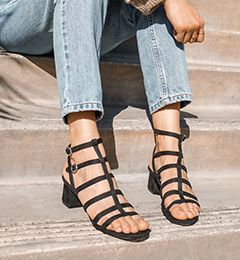 Teaser Platform Stiletto Sandals Caged Sandals Gladiator