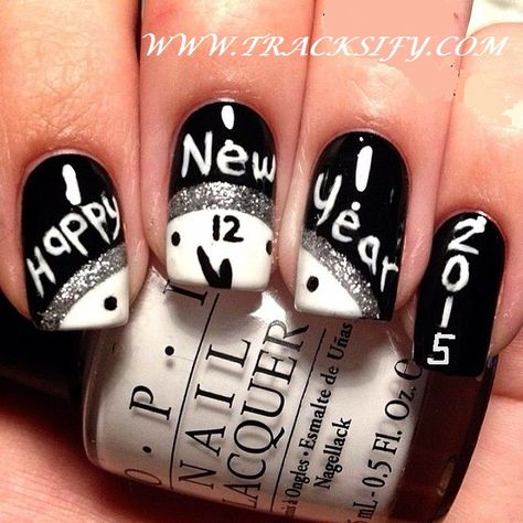 Top 25 Unique Happy New Year Eve Party Nail Art Designs | Tracksify