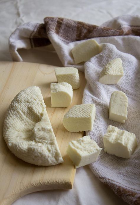 How to make paneer, a non melting cheese that uses heat and acid instead of rennet as the coagulation agent thus making it completely lacto vegetarian.  Source: http://www.vegrecipesofindia.com
