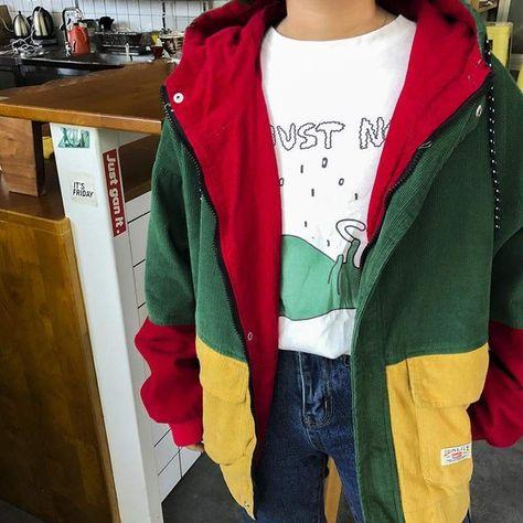 Corduroy patchwork vintage jacket (With images)   Vintage