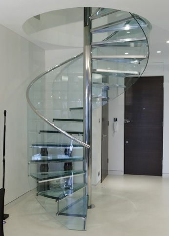 Ähnliches Foto In 2020 Spiral Stairs Design Glass Staircase   Spiral Staircase With Glass Railing   Metal   Residential   In India Staircase   Contemporary Glass   Thin Glass