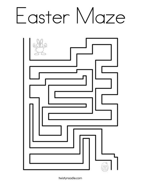 Easter Maze Coloring Page Twisty Noodle Easter Coloring Pages Coloring Pages Easter Colouring