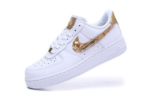 wholesale dealer 2ed0d 06137 Nike Air Force 1 07 CR7 White Gold Unisex Sneakers Shoes AQ0666-100