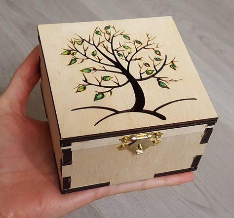 New Diy Jewelry Box Wooden Wood Burning Ideas In 2020 Wood Jewelry Box Jewelry Box Diy Small Wood Box