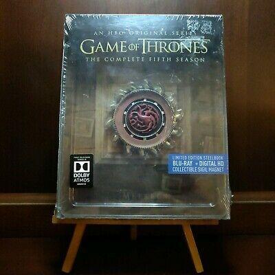 Game Of Thrones Season 5 Steelbook Region A With Sigil Magnet Brand New Gameofthrones Hbo Game Sigil Seasons Region