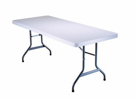 Lifetime 6 Foot Utility Table With 72 By 30 Inch Molded Top White