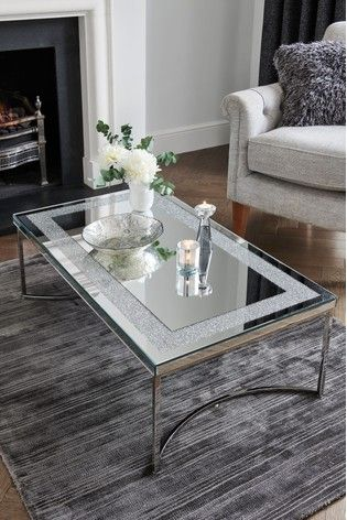 Portia Coffee Table Coffee Table Glass Coffee Table Decor Glass Table Living Room