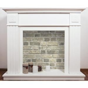 Nextwall Distressed Neutral Brick Vinyl Peelable Wallpaper Covers 30 75 Sq Ft Nw31705 The Home Depot Faux Fireplace Diy Faux Brick Brick Wallpaper
