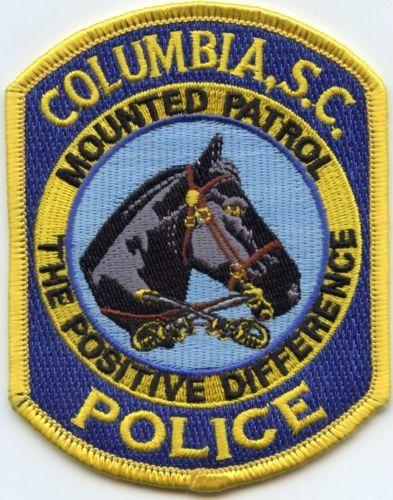 Columbia South Carolina Sc Mounted Patrol Horse Police Patch Police Patches Police Badge Patches