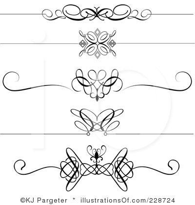 Free Black Clip Art Borders And Frames Weddings Royalty Free Rf