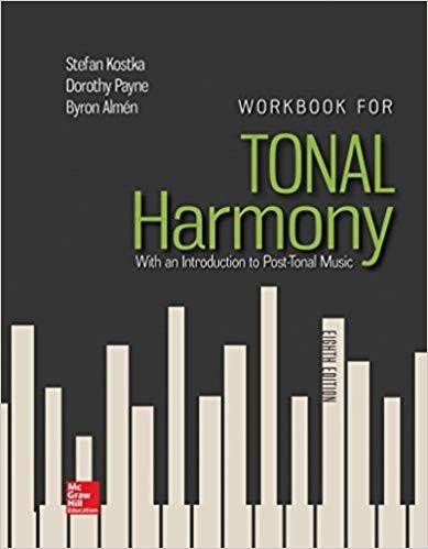DOWNLOAD PDF Workbook For Tonal Harmony Free Epub MOBI